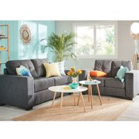 Rent to own Allendale Sofa Pair Charcoal
